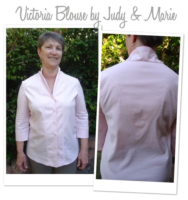 Victoria Blouse Sewing Pattern By Judy And Style Arc - Fabulous blouse with interesting design lines