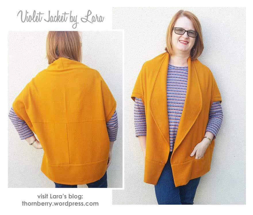Violet Knit Jacket Sewing Pattern By Lara And Style Arc - Amazing knit jacket with clever design lines