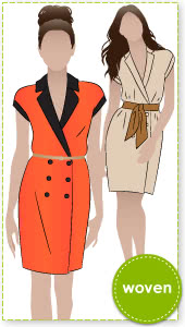 Vivian Vest / Dress Sewing Pattern By Style Arc - A double breasted dress or long line vest