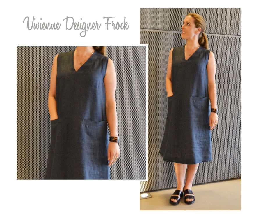 Vivienne Designer Frock Sewing Pattern By Style Arc