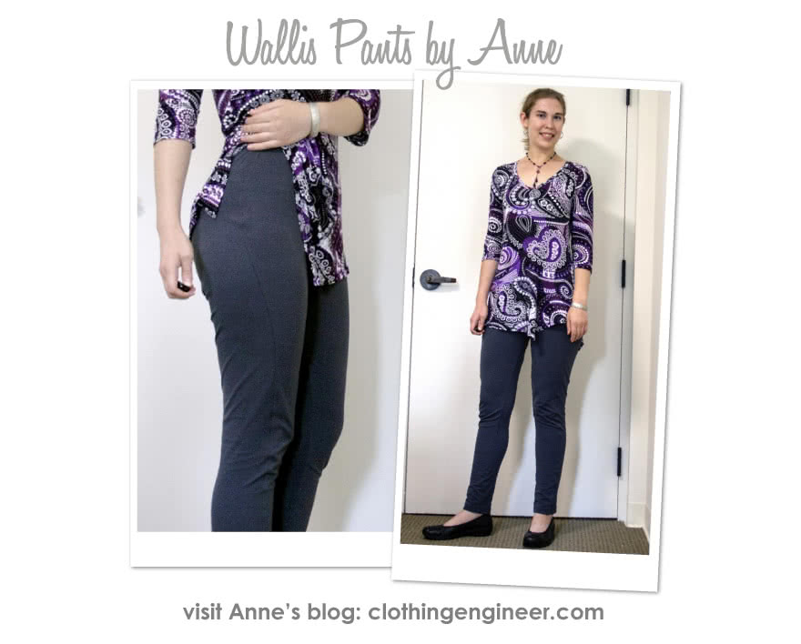 Wallis Pant Sewing Pattern By Anne And Style Arc - Pull-on Ponte pant with front design line