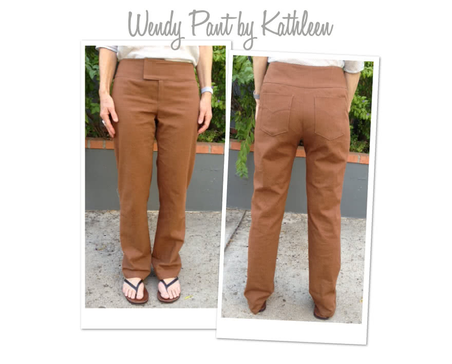 Wendy Pant Sewing Pattern By Kathleen And Style Arc - Pull-on pants with wide waistband