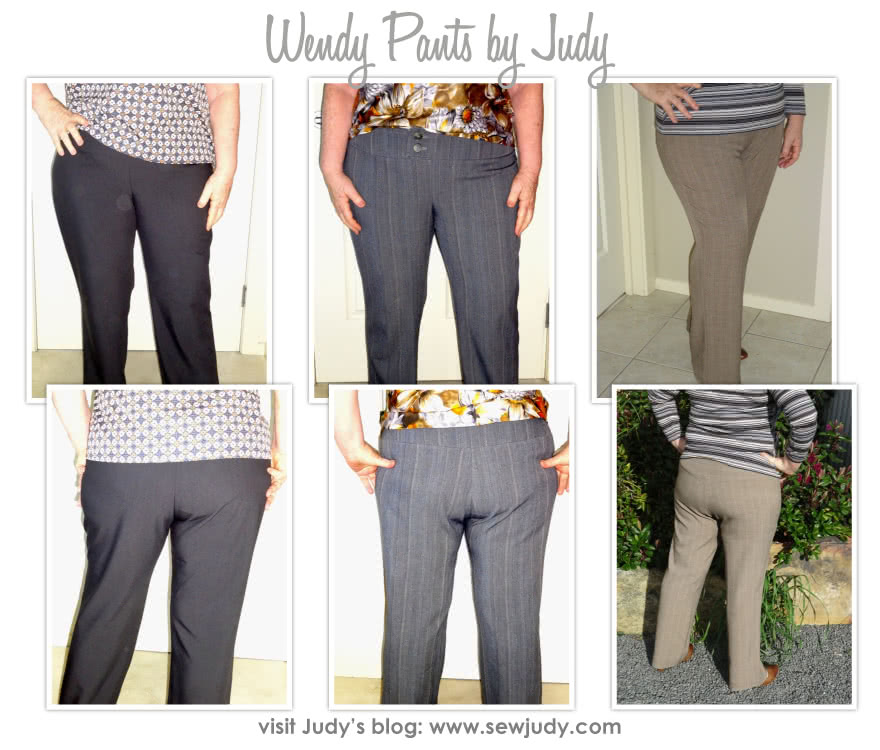 Wendy Pant Sewing Pattern By Judy And Style Arc - Pull-on pants with wide waistband