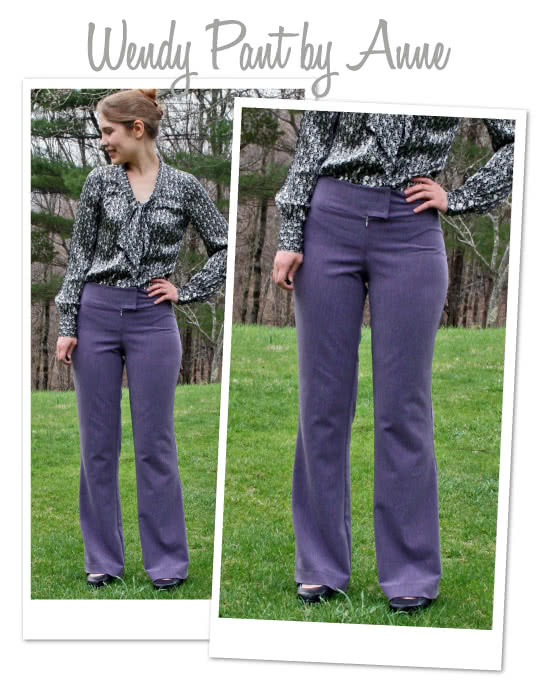 Wendy Pant Sewing Pattern By Anne And Style Arc - Pull-on pants with wide waistband