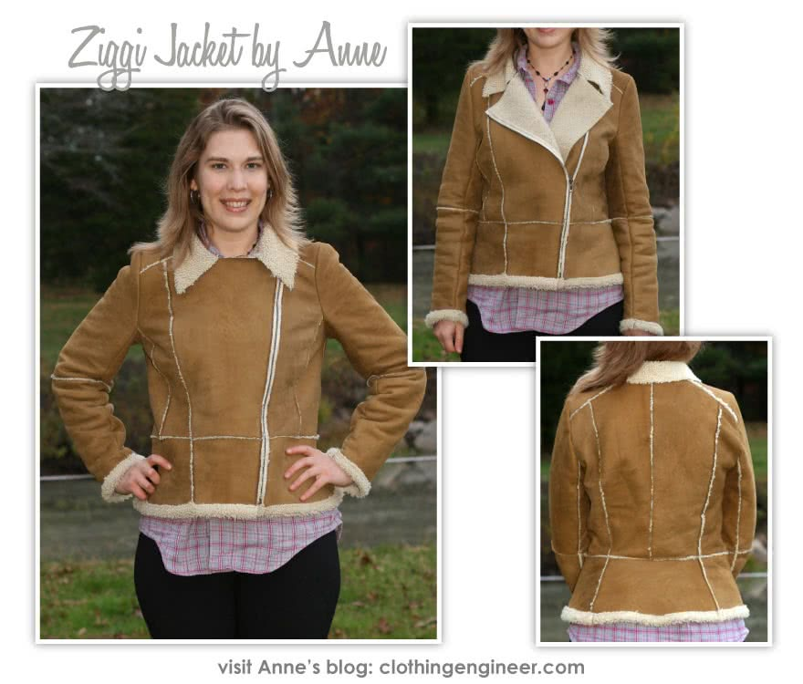 Ziggi Jacket Sewing Pattern By Anne And Style Arc - Fabulous fully lined biker jacket with zip features & interesting panelling