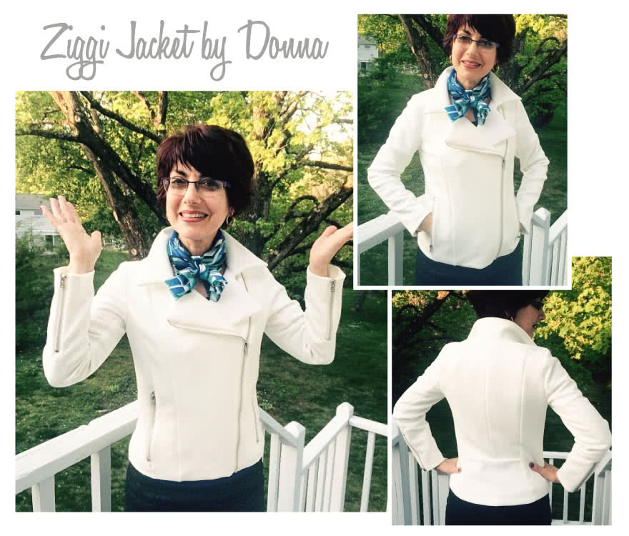 Ziggi Jacket Sewing Pattern By Donna And Style Arc - Fabulous fully lined biker jacket with zip features & interesting panelling