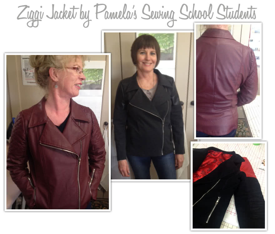 Ziggi Jacket Sewing Pattern By Pamelas And Style Arc - Fabulous fully lined biker jacket with zip features & interesting panelling