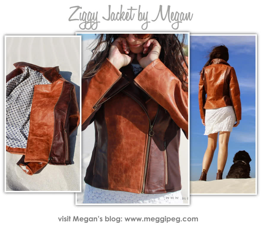 Ziggi Jacket Sewing Pattern By Megan And Style Arc - Fabulous fully lined biker jacket with zip features & interesting panelling