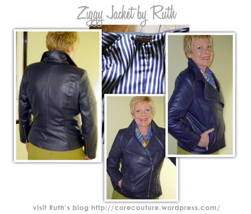 Ziggi Jacket Sewing Pattern By Ruth And Style Arc - Fabulous fully lined biker jacket with zip features & interesting panelling