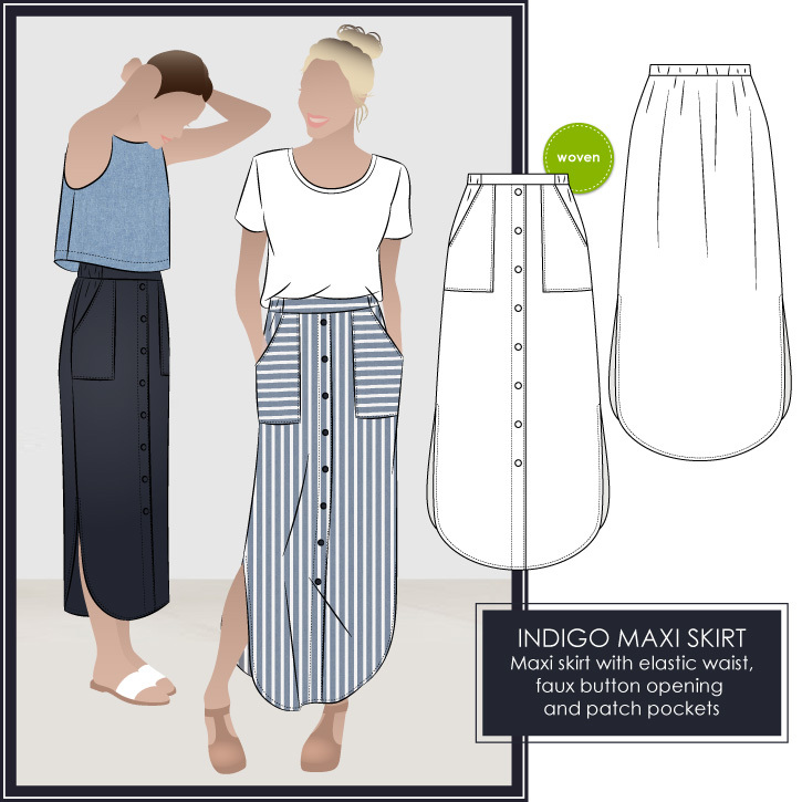 New Style Arc Sewing Pattern Alert for October 2017 – Indigo Maxi ...