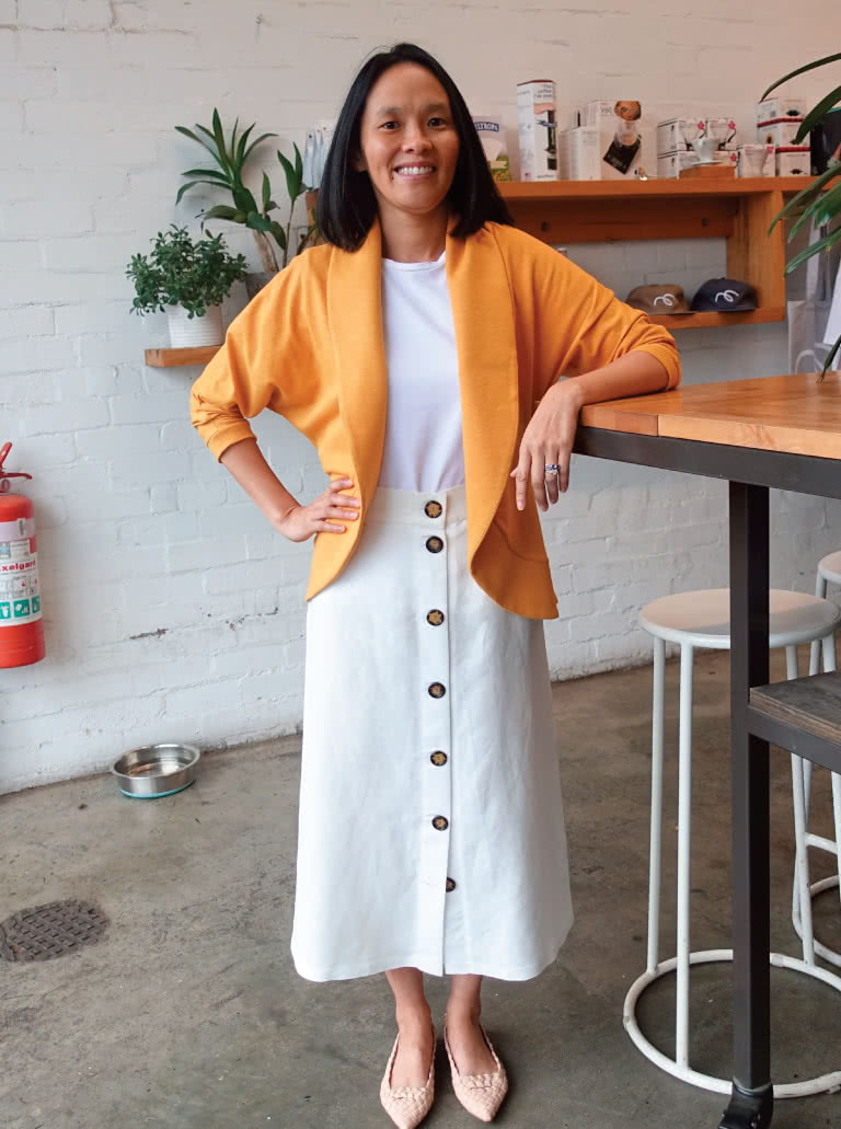 Discounted Get the look - Brunch with Friends - In this pattern bundle you will receive: Gem Tee, Sutton Skirt and Fiona Cardi