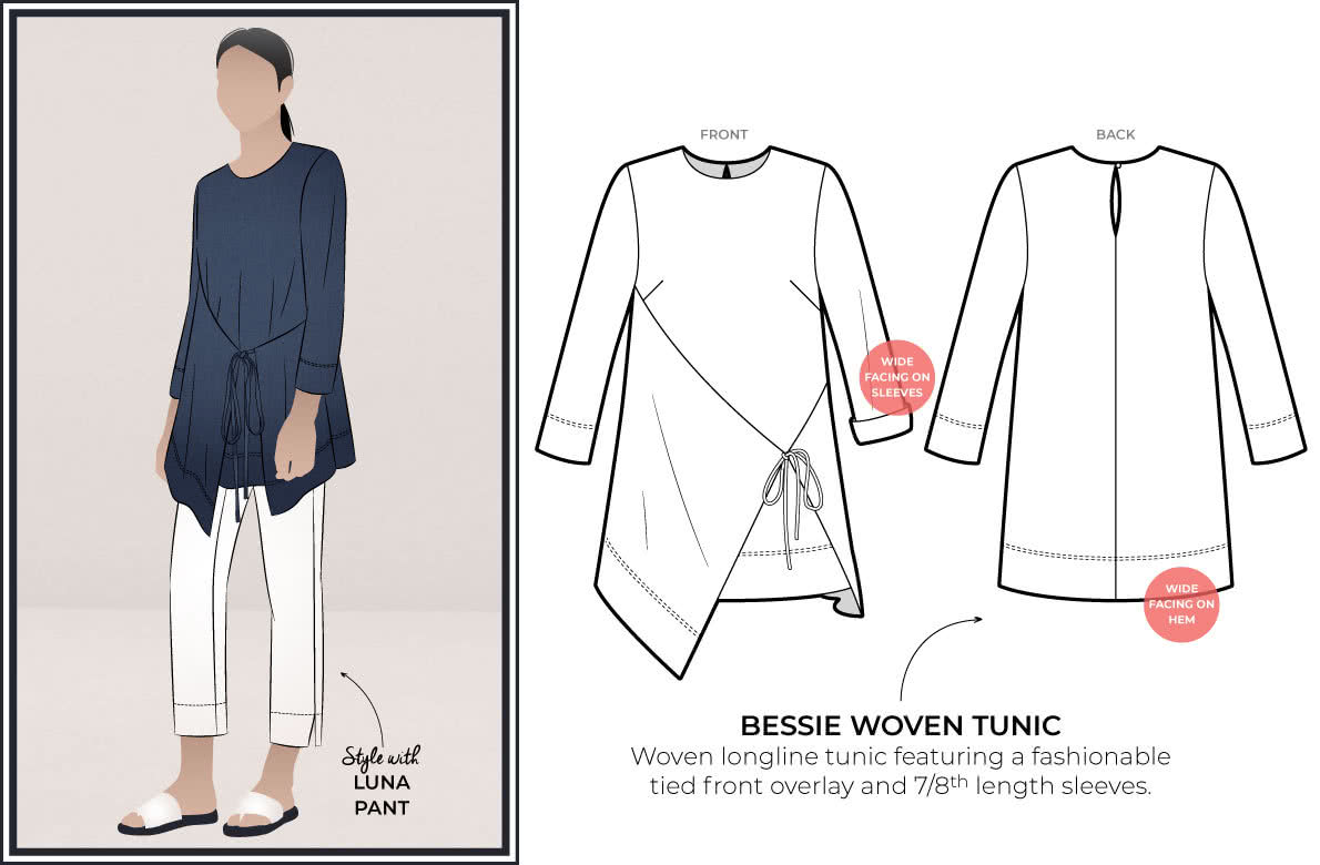 Style Arc's latest release the Bessie Woven Tunic
