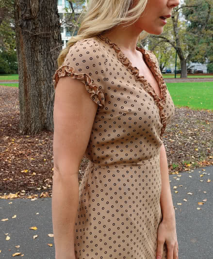 Annabelle Woven Dress Sewing Pattern By Style Arc - Woven wrap dress sewing pattern.