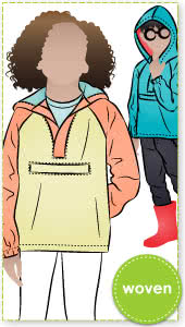 Ash Kids Anorak By Style Arc - Anorak with hood and zip pocket