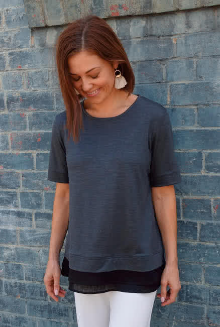 Astrid Tunic Sewing Pattern By Style Arc - Layered tunic top sewing pattern.