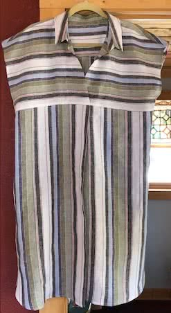 Autumn Dress Sewing Pattern By Deb And Style Arc - Versatile throw on dress with style, extended shoulder and interesting pleats