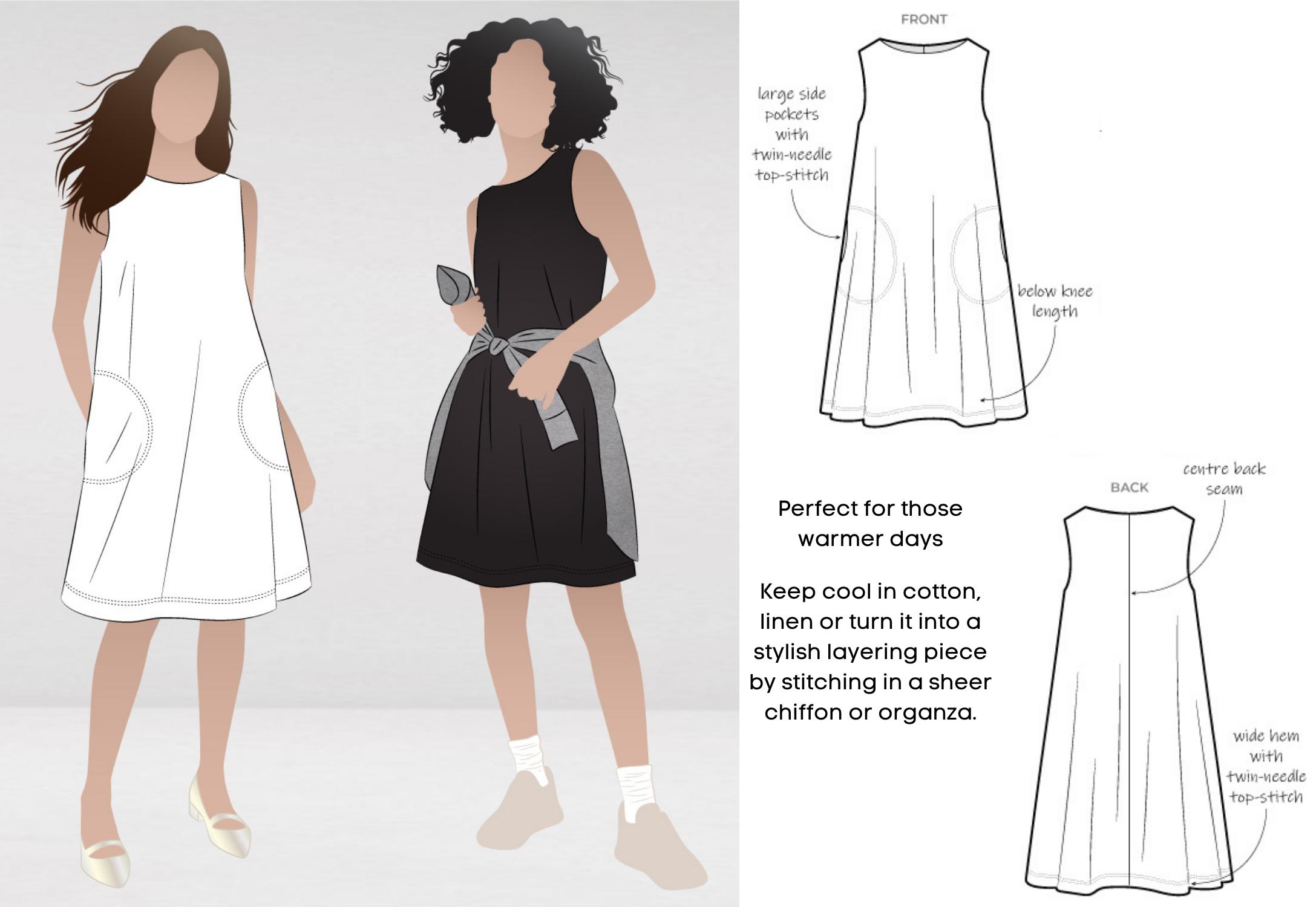 October Bonus Pattern- Lena Shift Dress