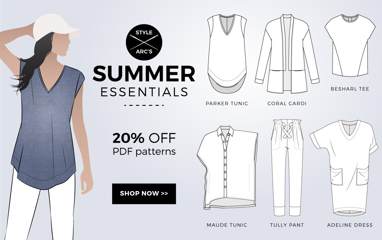Summer Essentials Sewing Patterns on Sale Now!