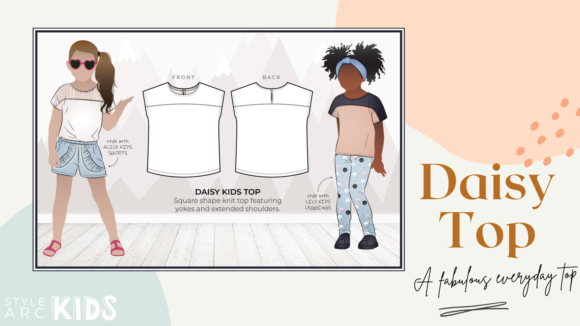 Style Arc's latest release the Daisy Kids Top pattern