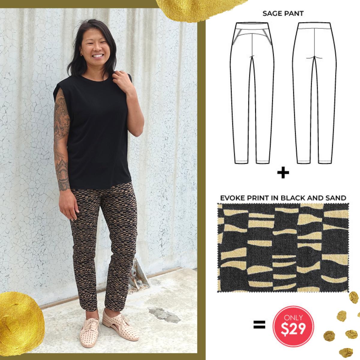 Sage Pant and Evoke Bengaline Fabric bundle- only $29