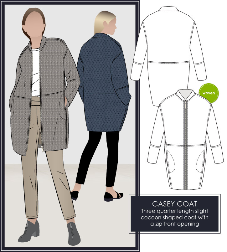 Casey Coat by Style Arc