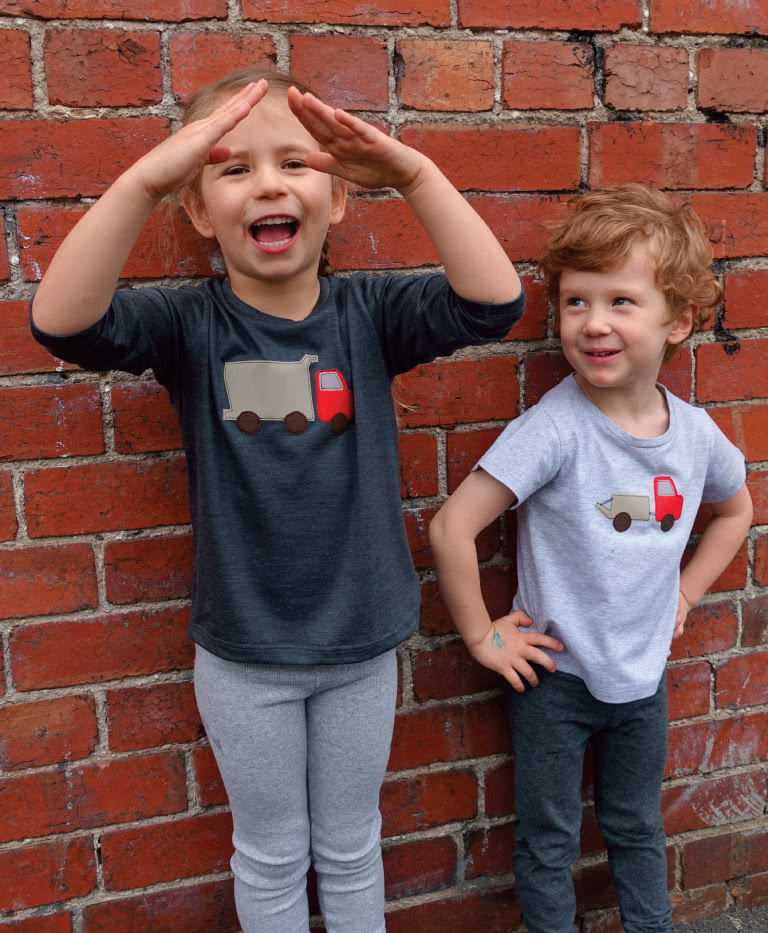 Billie T-shirt By Style Arc - Basic unisex kid's t-shirt pattern
