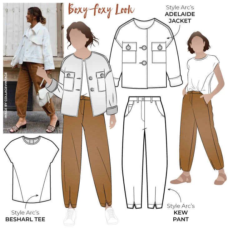 "Boxy Foxy Look Sewing Pattern Bundle By Style Arc - Happy to be staying in sewing and looking for your next project? Our latest discounted look ""Boxy Foxy"" Features some great designer patterns to elevate your sewing game."