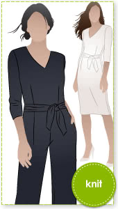 Brice Knit Jumpsuit By Style Arc - Women's knit jumpsuit sewing pattern