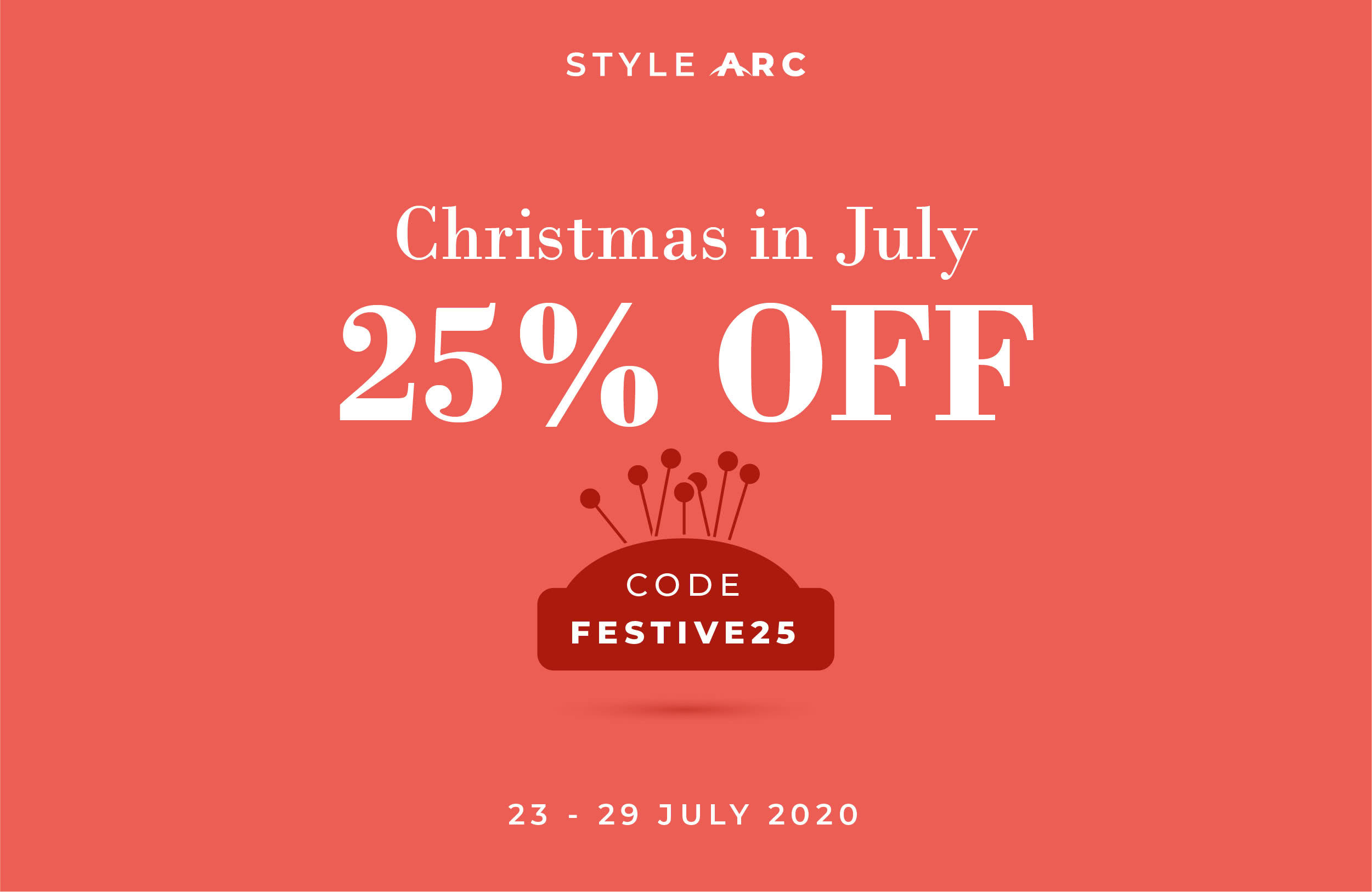 Christmas in July 2020 - Coupon code: FESTIVE25 on our Site and Etsy