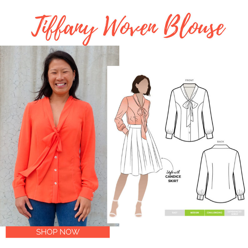 March 2021- Bonus Pattern Tiffany Woven Blouse