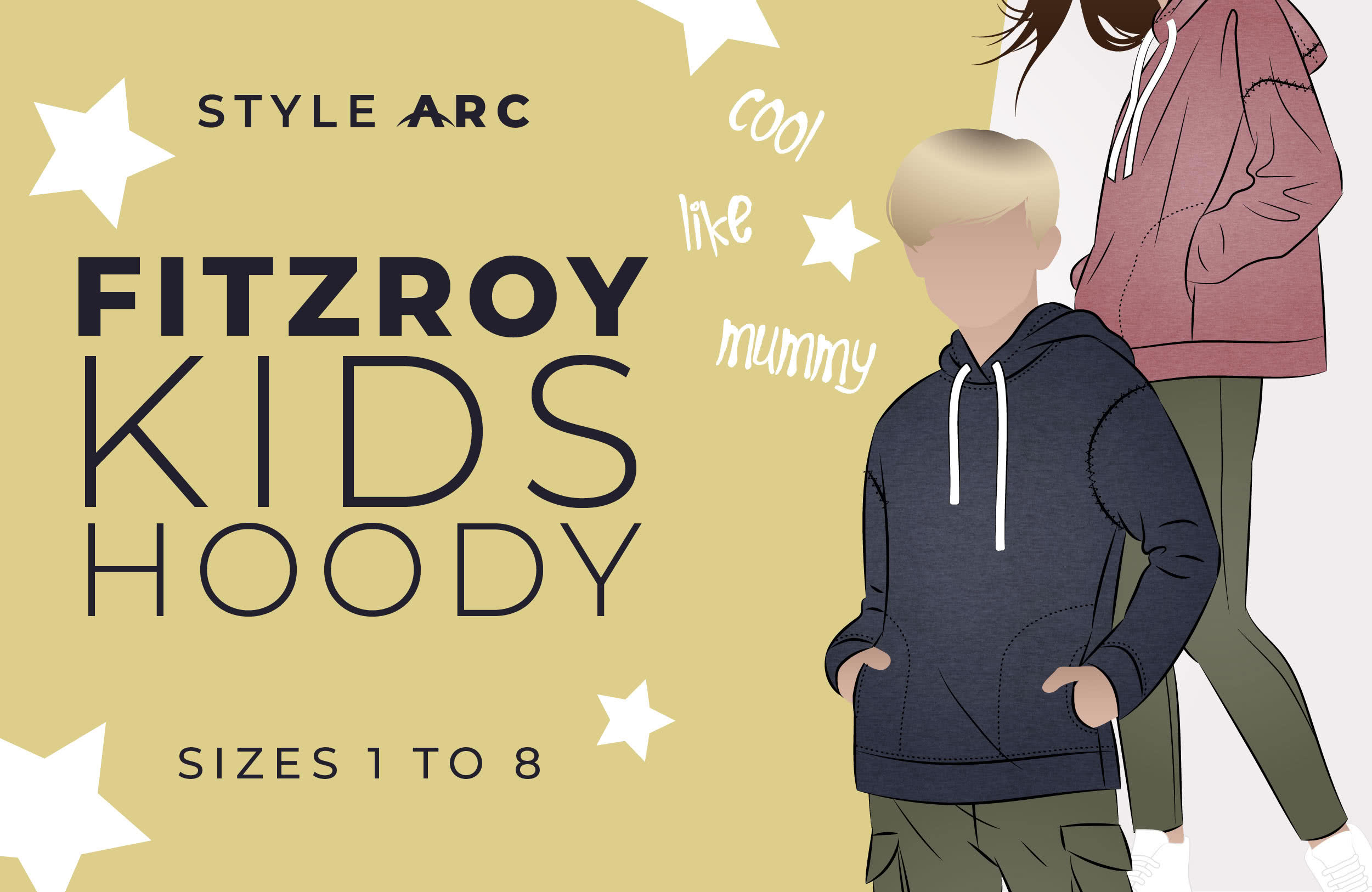 Fitzroy Kids Hoody - Available in sizes 1-8