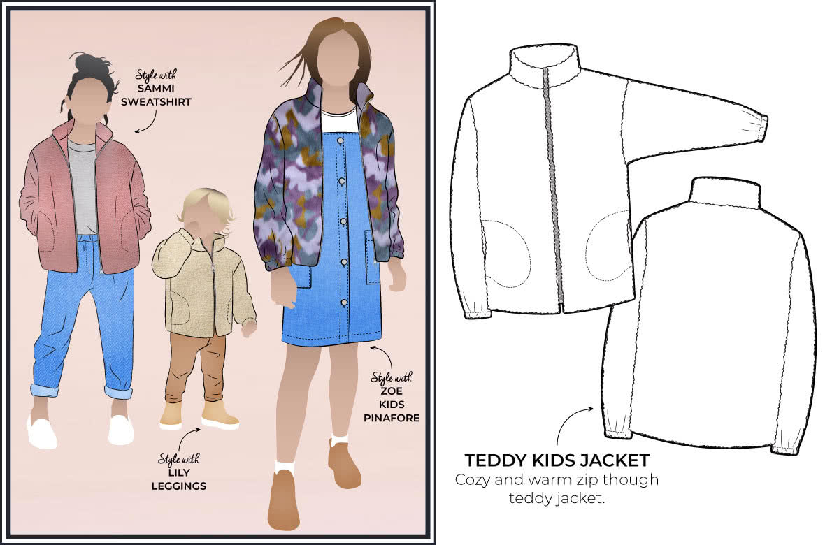Style Arc's latest release - Unisex Teddy Kids Jacket out now! Available in sizes 1-8 (years)