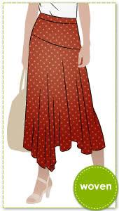 c46548811ca2 Canterbury Skirt By Style Arc - Feminine asymmetrical skirt featuring a  waistband, angled yoke and