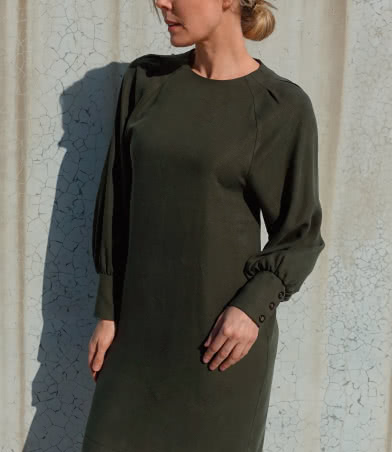 Catalina Designer Dress Sewing Pattern By Style Arc - Designer long blouson sleeve dress or top.