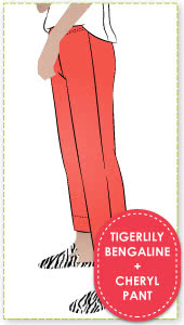 Cheryl Stretch Woven Pant & Tigerlily Bengaline Fabric Sewing Pattern Fabric Bundle By Style Arc
