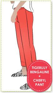 Cheryl Stretch Woven Pant & Tigerlily Bengaline Fabric Sewing Pattern Fabric Bundle By Style Arc