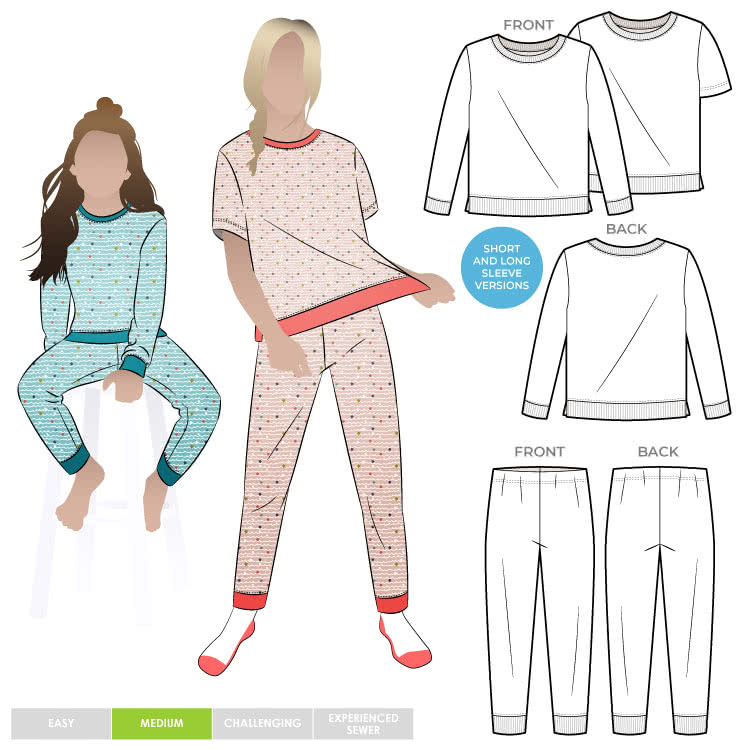 Children's PJ Set By Style Arc - Children's pyjama top and pant set