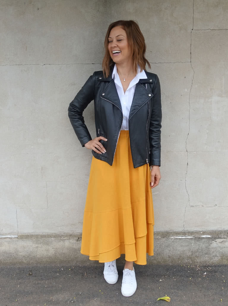Classically Casual Look Sewing Pattern Bundle By Style Arc - In this chic discount outfit bundle you will recieve the timeless styles the Sorrento skirt, Lennie Over shirt and Ziggi Jacket top make this Classically Casual look.