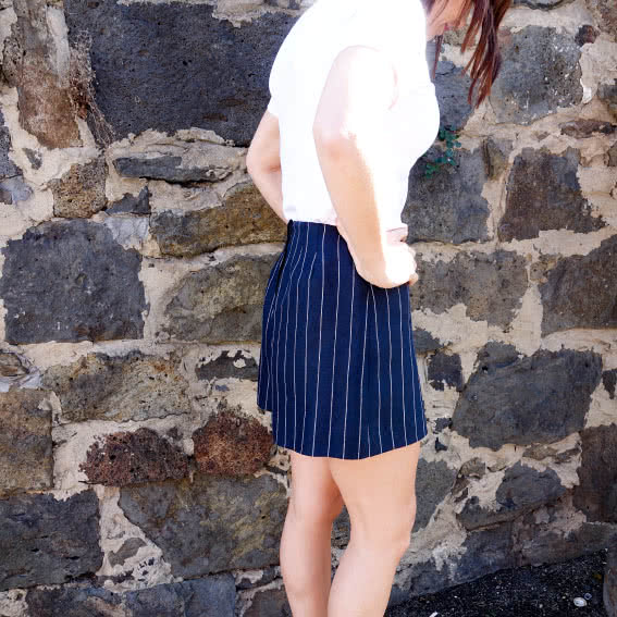 Cora Woven Short Sewing Pattern By Style Arc - Casually tailored vintage-inspired short.