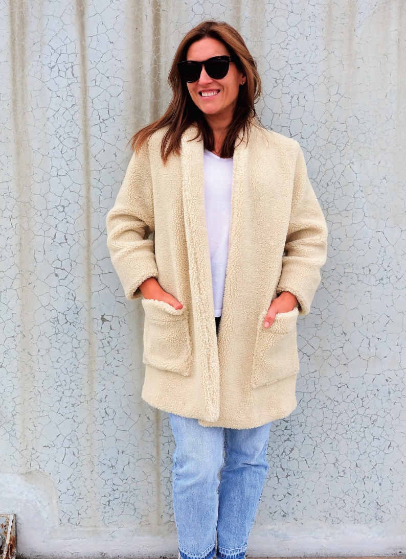 Loren Jacket in a faux shearling