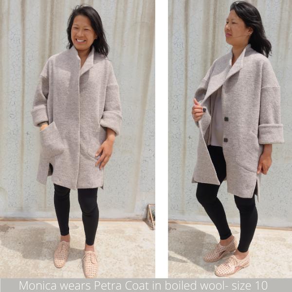 New Release Petra Coat- wool sample