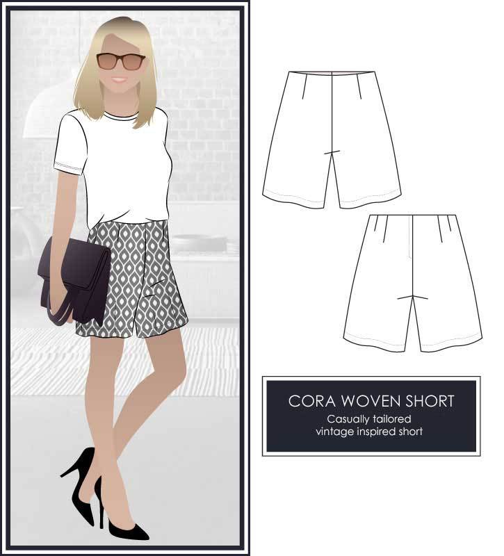 Cora Woven Short by Style ARC
