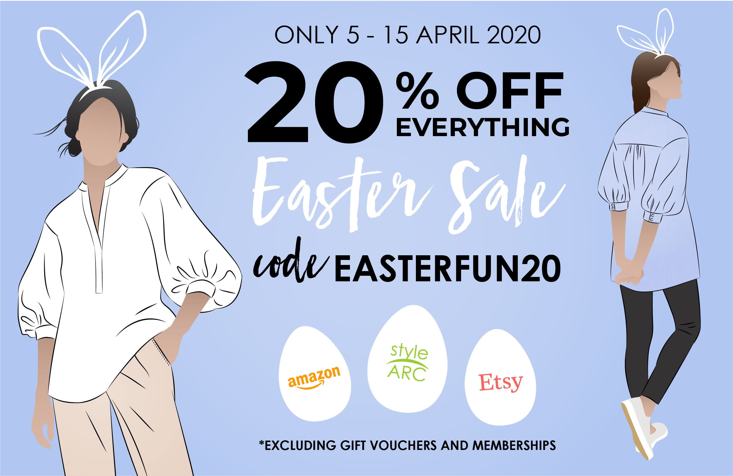 2020 Style Arc Easter Sale coupon code: EASTERFUN20