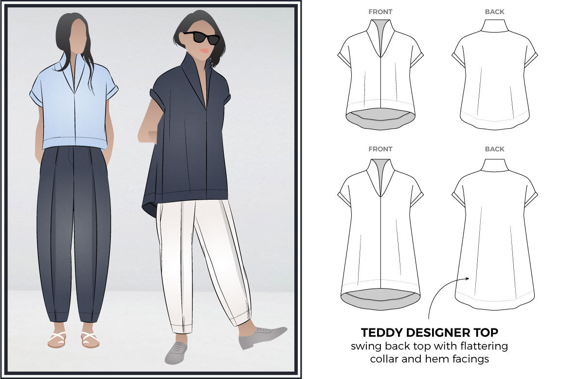 Teddy Designer Top by Style Arc Sewing Patterns