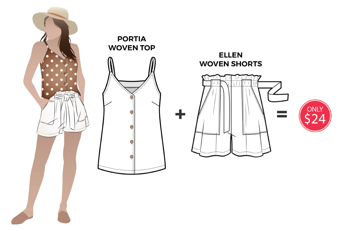 Ellen and Portia discounted sewing pattern bundle