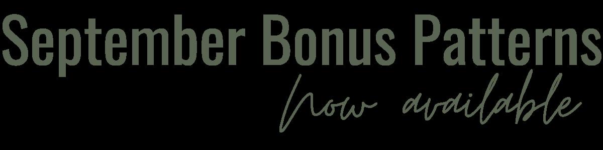 September Bonus Pattern Available