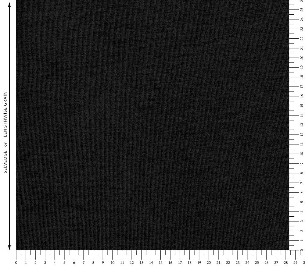 Double Knit Fine Rib Fabric - Black By Style Arc - Double Knit Fine Rib fabric in black.