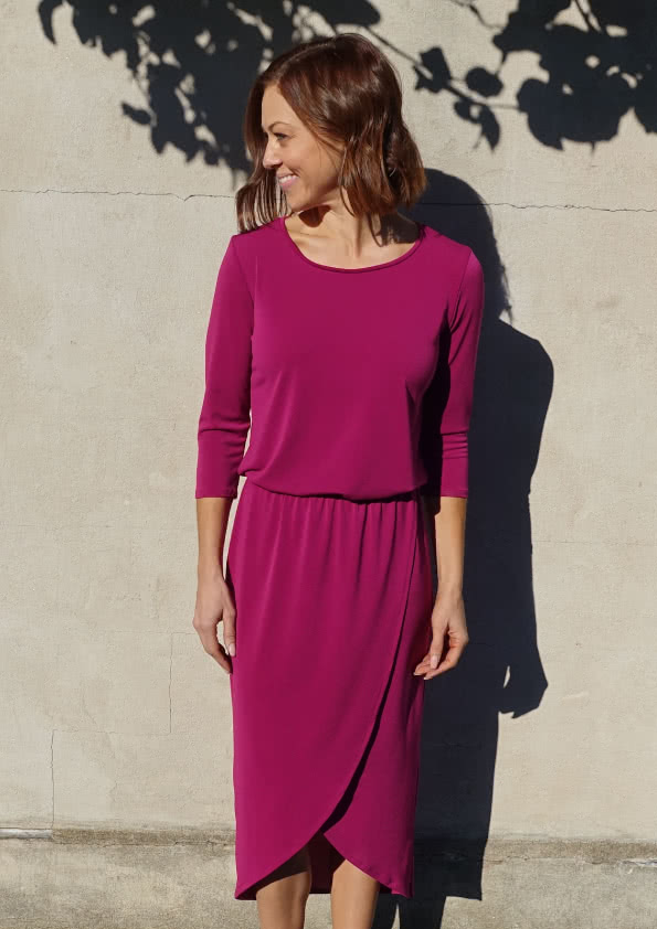 Dry Knit Crepe – Magenta Fabric By Style Arc