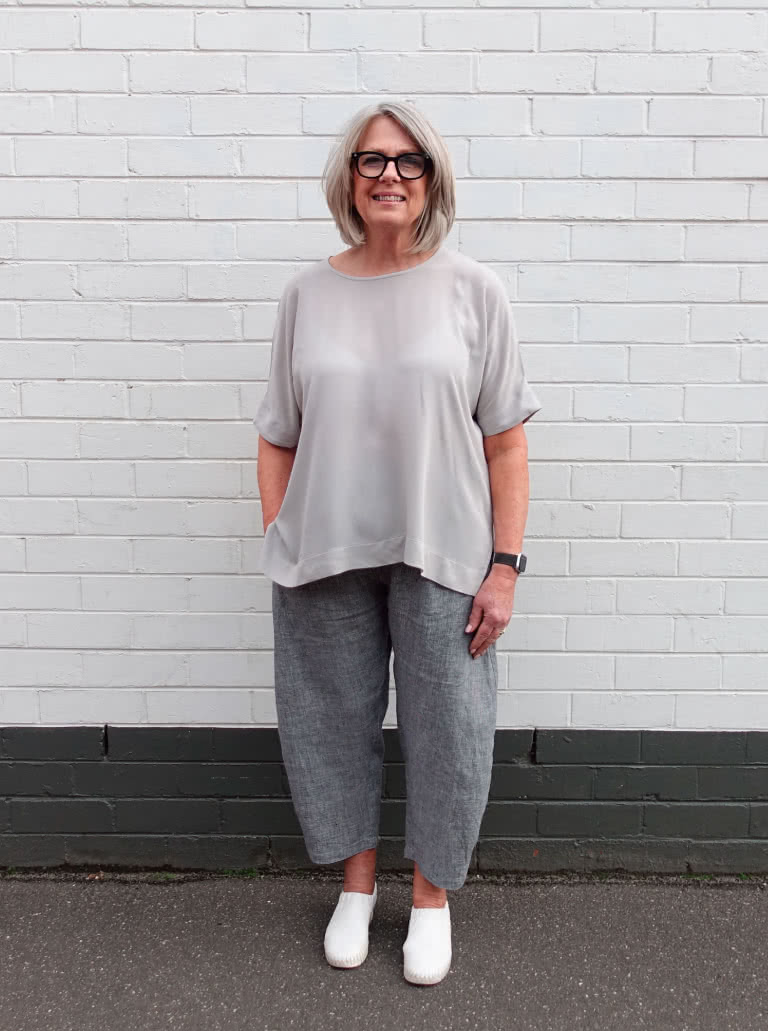 Betty Woven Tunic - styled with Bob woven pant