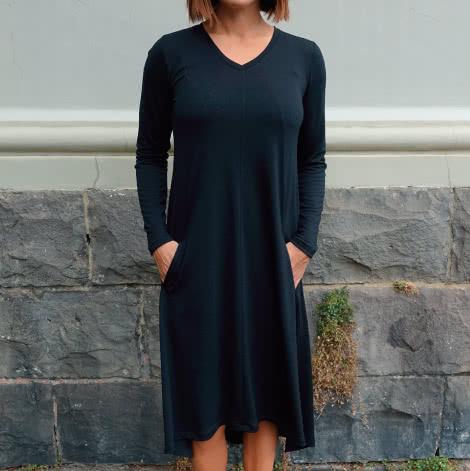 Eden Knit Dress Sewing Pattern By Style Arc - Swing dress for knit fabrics